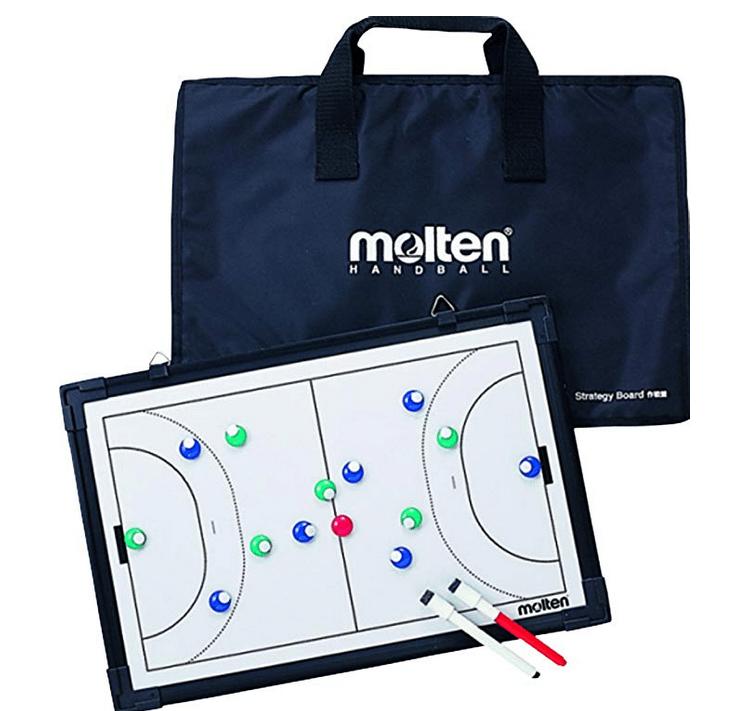 Das ist eine Taktiktafel von Molten für Handballtrainer und Testsieger