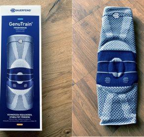 BAuerfeind Kniebandage Verpackung und in Echt